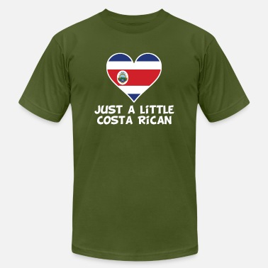 Funny Costa Rican Just A Little Costa Rican - Men's Jersey T-Shirt