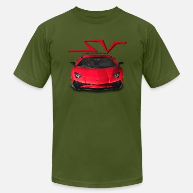 Aventador SV Red - Men's Jersey T-Shirt