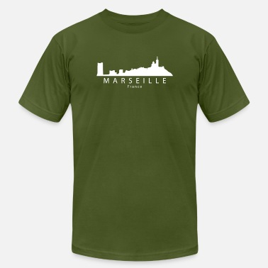 France Skyline Marseille France Skyline - Men's  Jersey T-Shirt