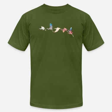 Crane Bird Cranes Taking Wing - Men's  Jersey T-Shirt