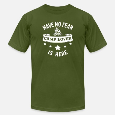 Camping Birthday Camp Lover Funny Birthday Gift - No Fear Camping - Men's  Jersey T-Shirt