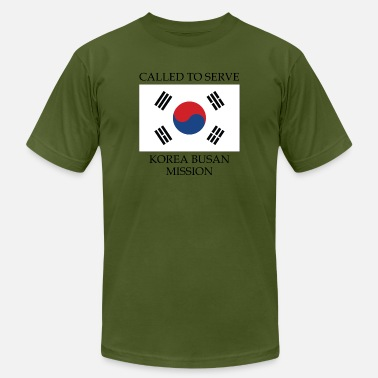 Busan Korea Busan LDS Mission Called to Serve Flag - Men's  Jersey T-Shirt