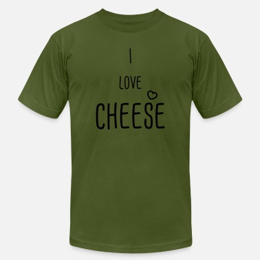 I Love Cheese i love cheese - Men's Jersey T-Shirt