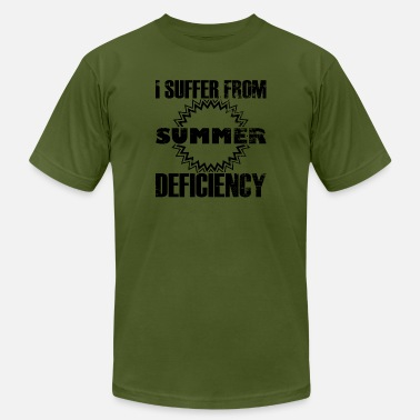 Defici I suffer from summer deficiency - statement quote - Men's Jersey T-Shirt