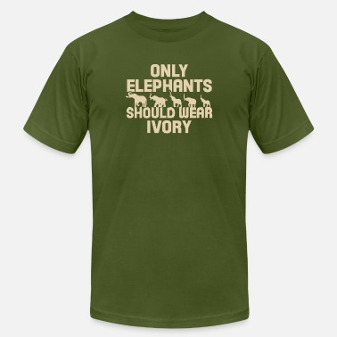 Ivory Only Elephants should wear ivory shirt - Unisex Jersey T-Shirt
