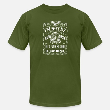 57 Year Experience I'm not 57 1960 I'm 18 with 39 years of experience - Men's  Jersey T-Shirt