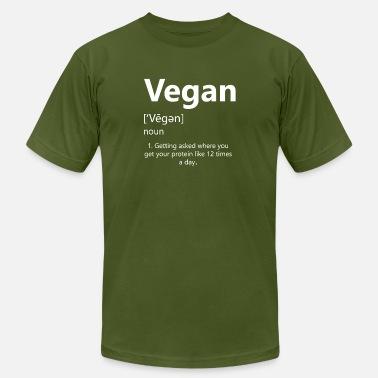 50c0c368 Funny Sarcastic Vegan Noun Definition Quote Shirt - Men's Jersey T-
