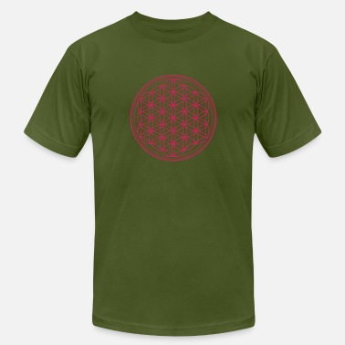 Life Flower Flower of Life Pink - Men's  Jersey T-Shirt