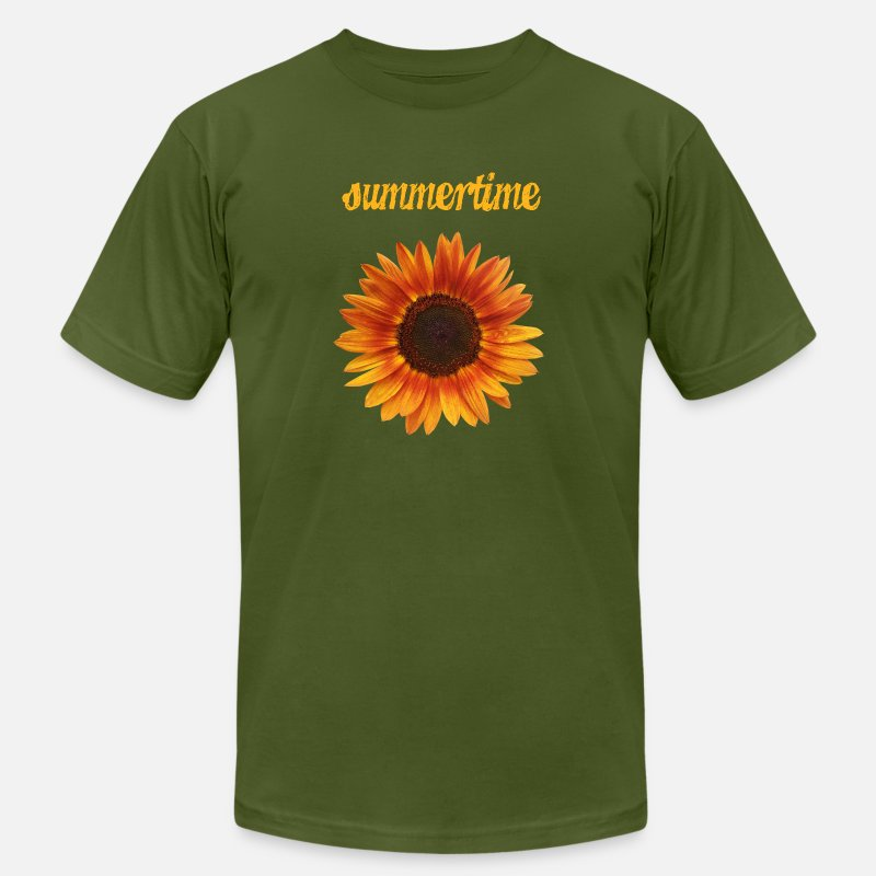 Sunflower T-Shirts - summertime - beautiful sunflower blossom - Men's Jersey T-Shirt olive