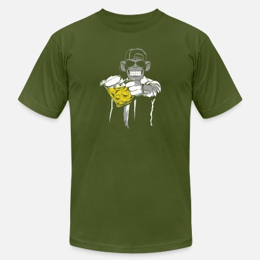 Beer Monkey ape beer monkey - Men's  Jersey T-Shirt