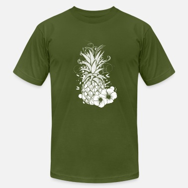 Hibiscus Flower Pineapple with hibiscus blossom - Men's Fine Jersey T-Shirt
