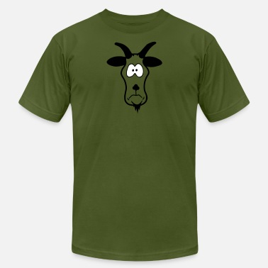 Silly Animal Head: silly billy goat - Unisex Jersey T-Shirt