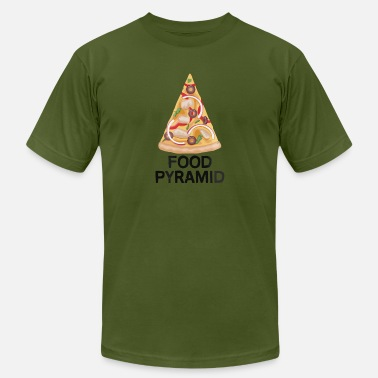 Pizza Food Pyramid Pizza Lover s Food Pyramid - Men's Jersey T-Shirt