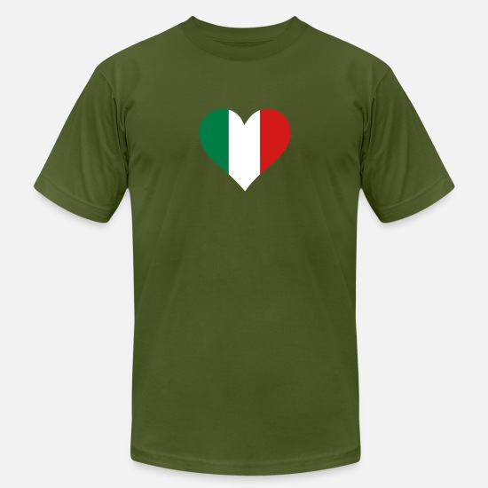 Heart T-Shirts - A Heart For Italy - Men's Jersey T-Shirt olive