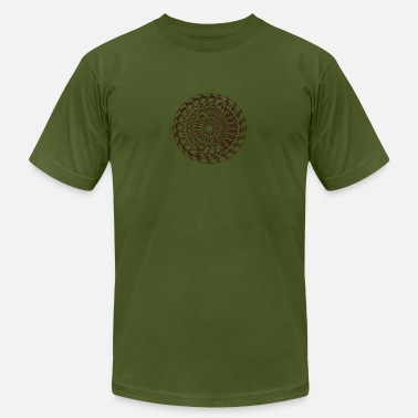 Illustration Vector Vector outline ornate mandala illustration - Men's Jersey T-Shirt