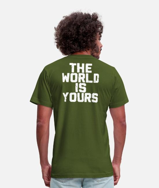 Rap T-Shirts - THE WORLD IZ YOURS - Unisex Jersey T-Shirt olive