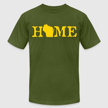 HOME - Wisconsin - Men's Fine Jersey T-Shirt