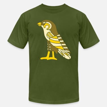 Egypt egyptian_falcon_3_color_8_in - Men's  Jersey T-Shirt
