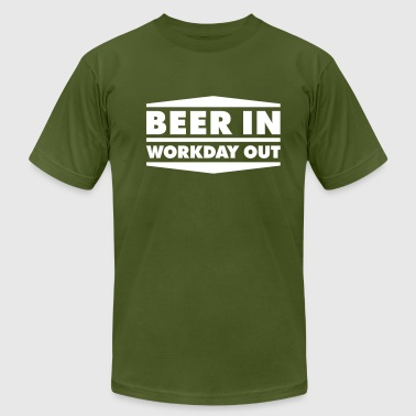 Beer in - Workday out 2_1c - Men's Fine Jersey T-Shirt