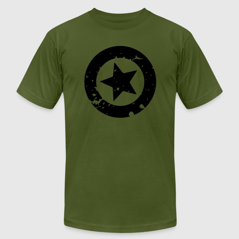 Grunge Star Circle - Men's Fine Jersey T-Shirt