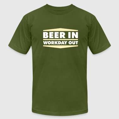 Beer in - Workday out 2_2c - Men's Fine Jersey T-Shirt