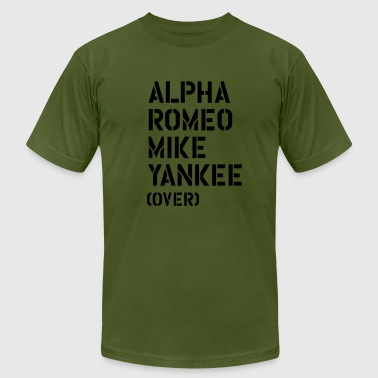 Alpha Romeo Mike Yankee - over - Men's Fine Jersey T-Shirt