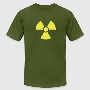 Radiation / nuclear warning symbol - Men's Fine Jersey T-Shirt