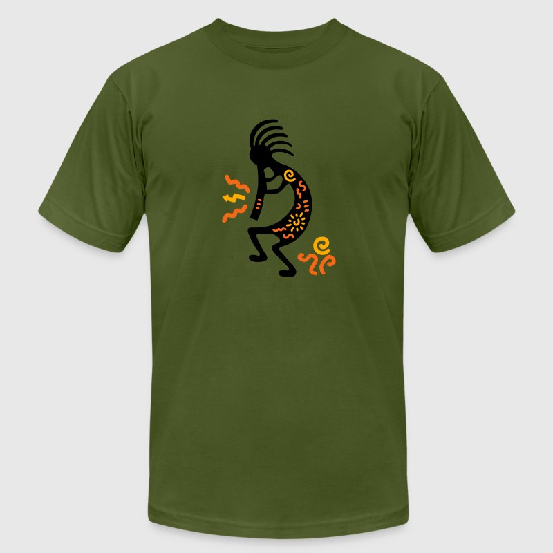 kokopelli_carving_american - Men's Fine Jersey T-Shirt