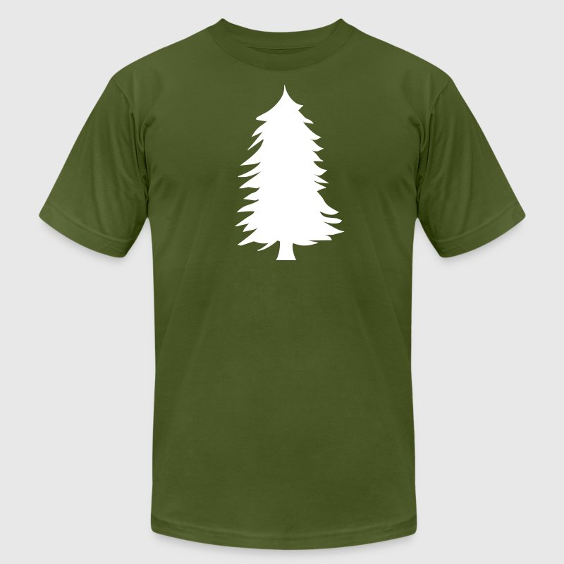 green pine tree silhouette - Men's Fine Jersey T-Shirt