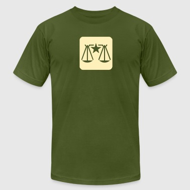 Law & Order Balance Scale - Men's Fine Jersey T-Shirt