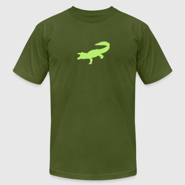 crocodiles alligator dinosaurs giant lizard danger - Men's Fine Jersey T-Shirt