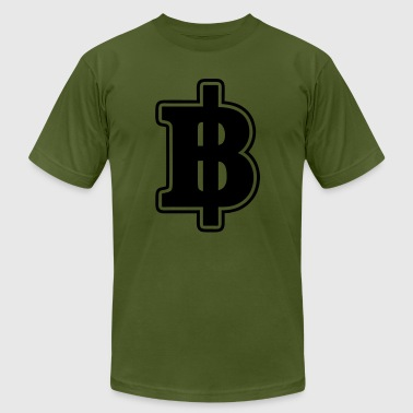 Camouflage Baht Sign / Symbol Thai / Thailand Money / Currency - Men's Fine Jersey T-Shirt
