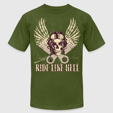Hell Born In Ride Like Hell - Men's Fine Jersey T-Shirt