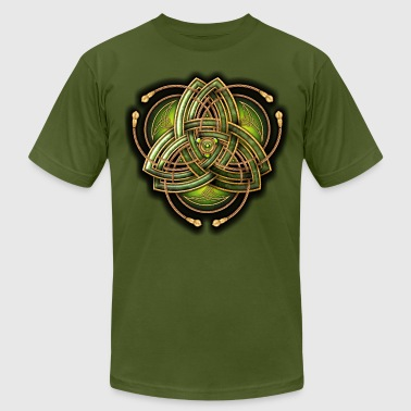 Green Celtic Triquetra - Men's Fine Jersey T-Shirt