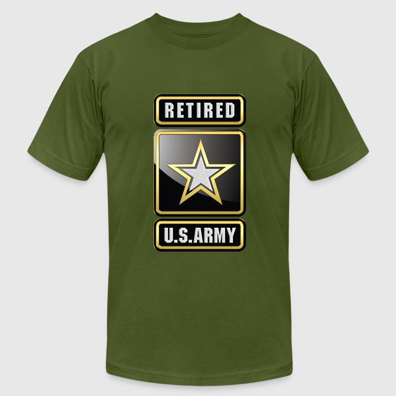 US Army Retired - Men's Fine Jersey T-Shirt