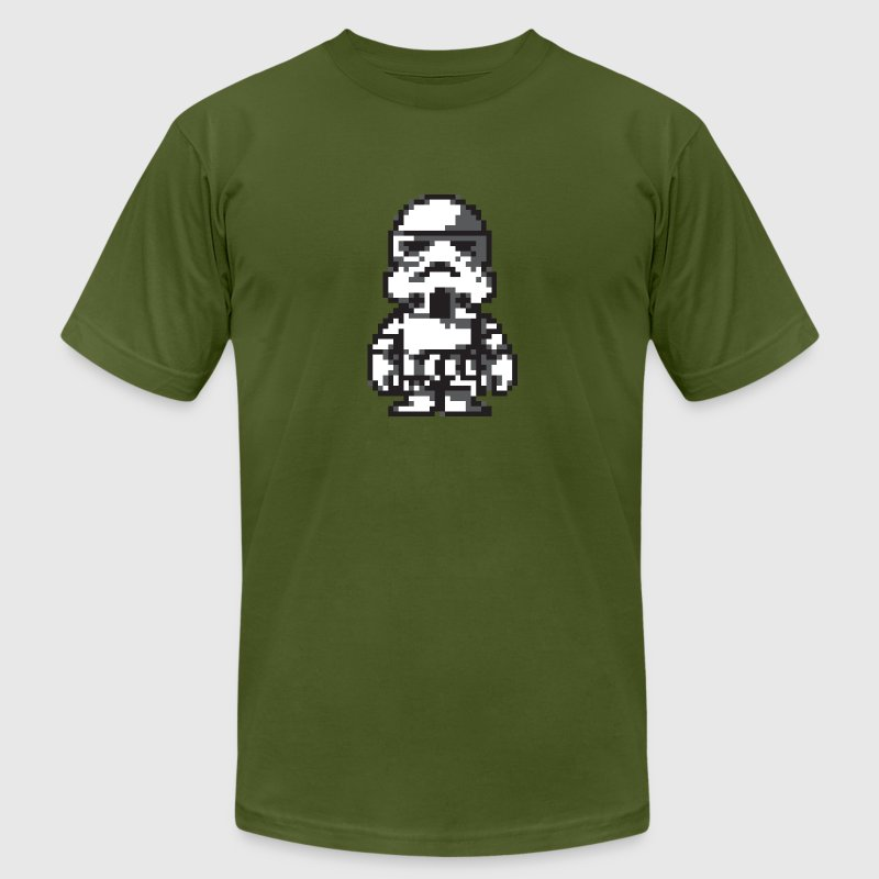 Stormtrooper in 8-bit - Men's Fine Jersey T-Shirt