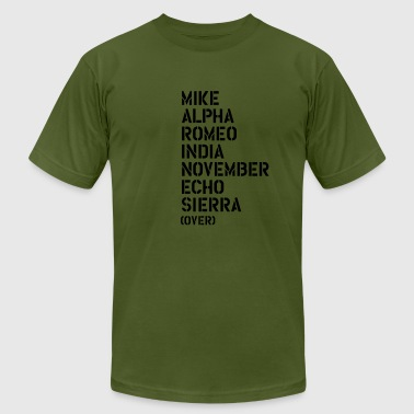 Mike Alpha Romeo India... over - MARINES - Men's Fine Jersey T-Shirt