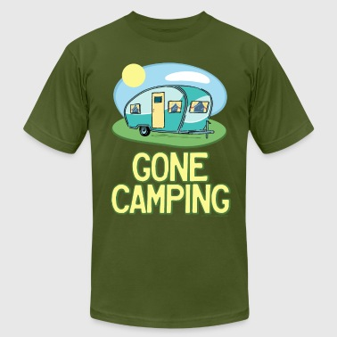 Gone Camping Travel Trailer - Men's Fine Jersey T-Shirt