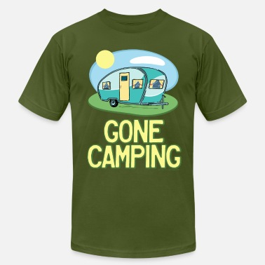 Camper Travel Trailer Gone Camping Travel Trailer - Men's  Jersey T-Shirt