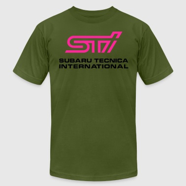 STI Subaru Tecnica International - Men's Fine Jersey T-Shirt