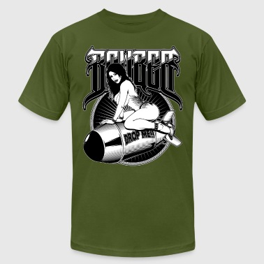 Porn Heavy Bomber Girl - Men's Fine Jersey T-Shirt