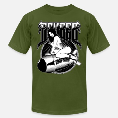 Boobs Motorcycles Bomber Girl - Men's Jersey T-Shirt