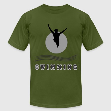 Adult-swim Swimming - Men's Fine Jersey T-Shirt