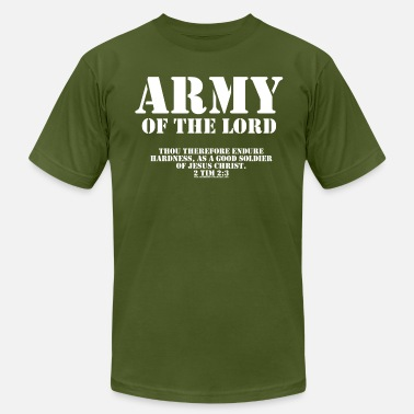 Bible Army of the Lord, Christian T-Shirts with Bible Ve - Men's Fine Jersey T-Shirt
