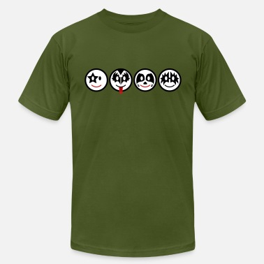 Heavy Metal Icons Smile Rock - Smiley Icons (horizontal) 3c - Men's  Jersey T-Shirt