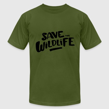 Protect Wildlife Save the Wildlife - Men's Fine Jersey T-Shirt