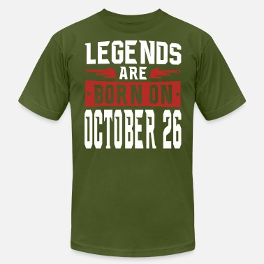 Funny Quotes %26 Legends are born on October 26 - Men's Fine Jersey T-Shirt