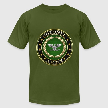 Army Colonel (COL) Rank Insignia 3D  - Men's Fine Jersey T-Shirt