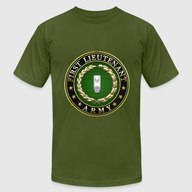 Rank Insignia First Lieutenant (1LT) Rank Insignia 3D  - Men's Fine Jersey T-Shirt