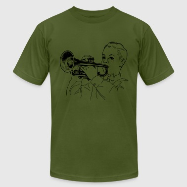 Trumpet Player - Men's Fine Jersey T-Shirt
